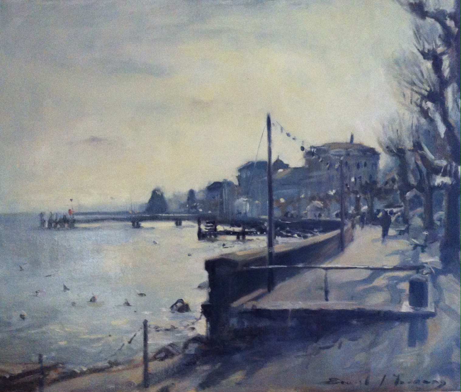 Wintery light on the promenade