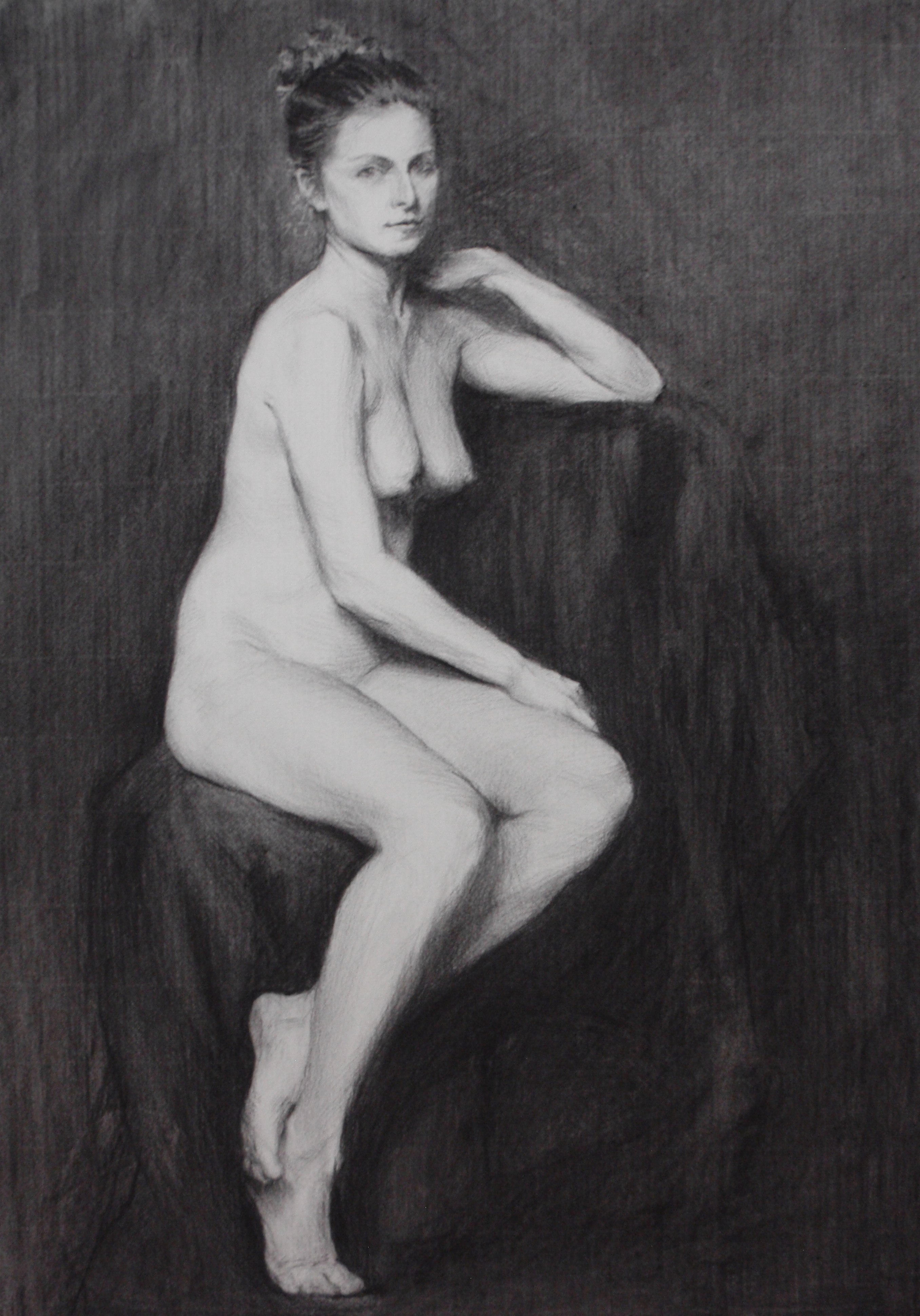 seated charcoal study 3